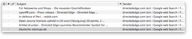 FeedMySearch for Directed Edge in Thunderbird